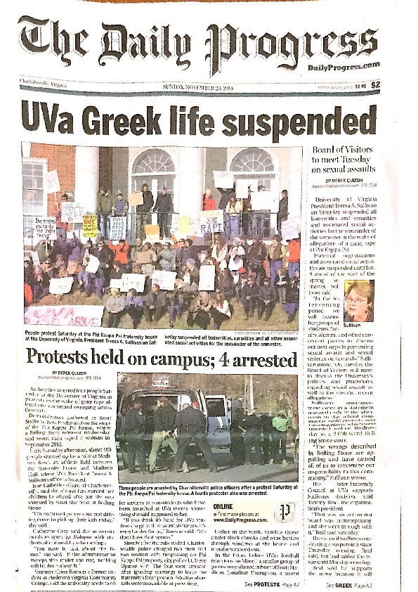 2014-11-23 Protests Held on Campus - 4 Arrested.pdf