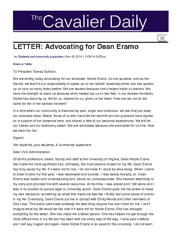 Petition - Advocating for Dean Eramo.pdf
