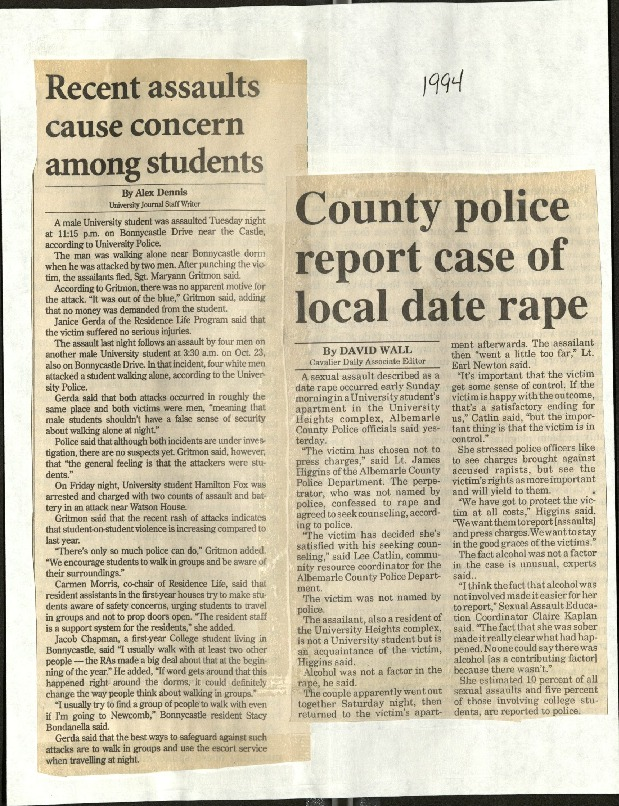 Recent assaults cause concern among students-Dennis, County police report case of local date rape-Wall.pdf