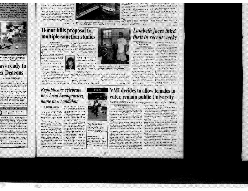 1996-09-23 Cavalier Daily VMI Decides to Allow Females to Enter, Remain Public University.pdf