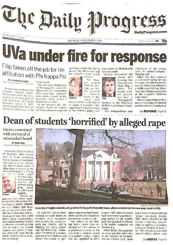 2014-11-22 UVa under fire for response.pdf