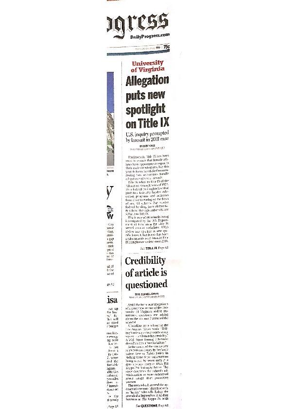 2014-12-03 DP - Allegation puts new spotlight on Title IX copy.pdf