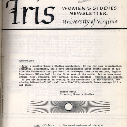 Iris Magazine No. 1, Fall 1980