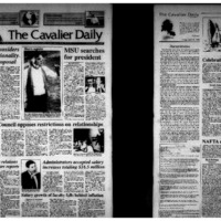 Cavalier Daily Apr 16, 1993 - ACLU Considers Constitutionality of Sex Proposal; Student Council Opposes Restrictions on Relationships.pdf