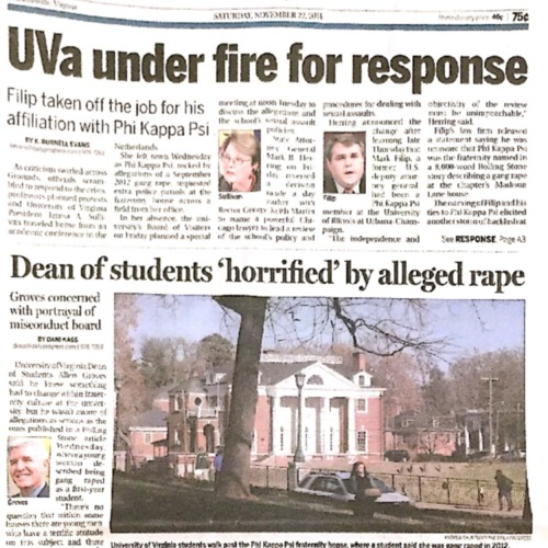 2014-11-22 UVa under fire for response.pdf