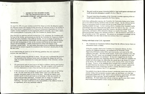 Report of the Hearing Panel for the Investigation of the Jefferson literary and debating society- May 7 1993.pdf