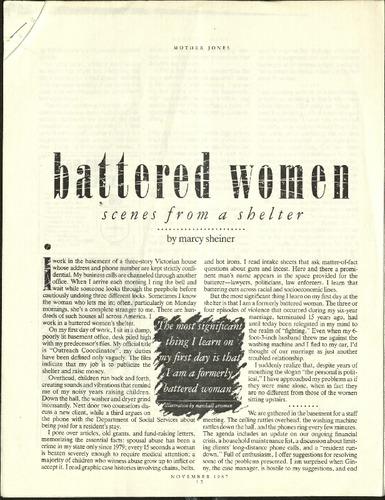 battered women- scenes from a shelter- Sheiner.pdf