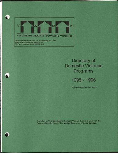 Directory of Domestic Violence Programs- 1995-1996.pdf
