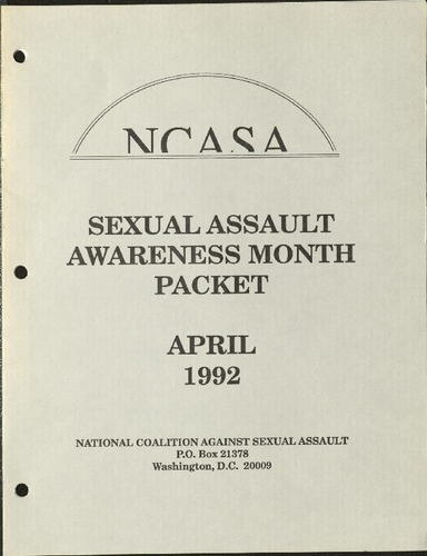 NSASA- Sexual Assault Awareness Month packet- April, 1992.pdf