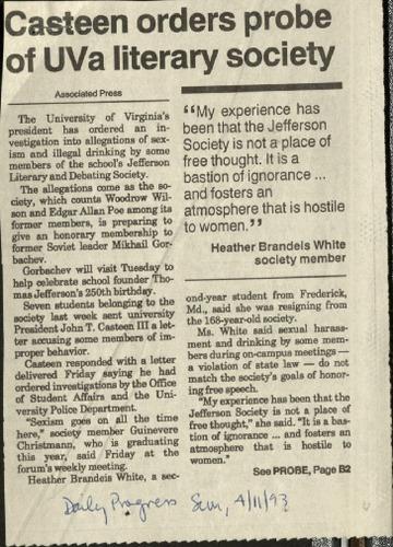 Casteen orders probe of UVA literary society-Associated Press.pdf