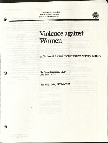 Violence against Women- A National Crisis Victimization survery report- Jan. 1994.pdf