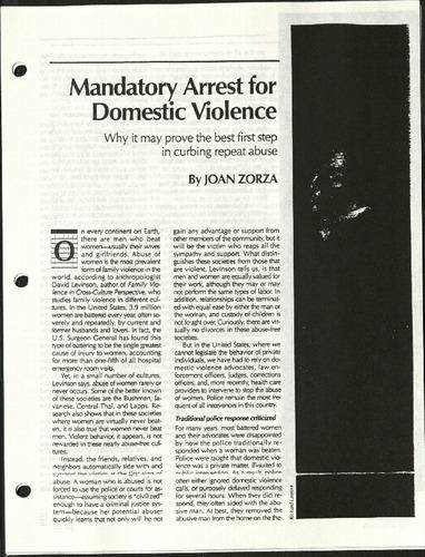 Mandatory Arrest for Domestic Violence- Zorza.pdf