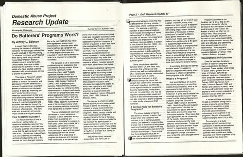 Domestic Abuse Project- Research Update- Do Batterers' Programs work? -Summer, 1995.pdf