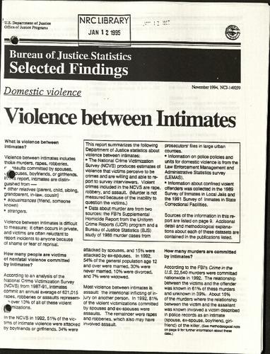Bureau of Justice Statistics selected findings- Violence between Intimates.pdf