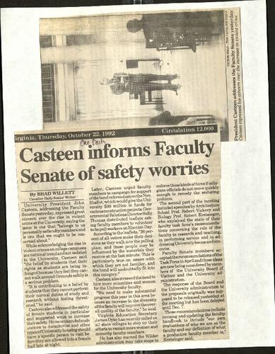 Casteen informs Facult Senate of safety worries- Willett.pdf