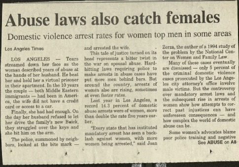 Abuse laws also catch females- LA Times.pdf