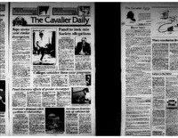 Cavalier Daily Apr 20. 1993 - Rape stories yield similar descriptions; Panel to look into Society allegations; Panel discusses effects of gender stereotypes; Professor's dismissal raises questions of relationships.pdf