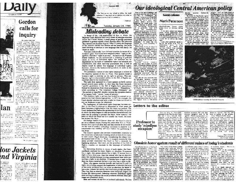 1984-1-2 Cavalier Daily Gordon Calls for Inquiry.pdf