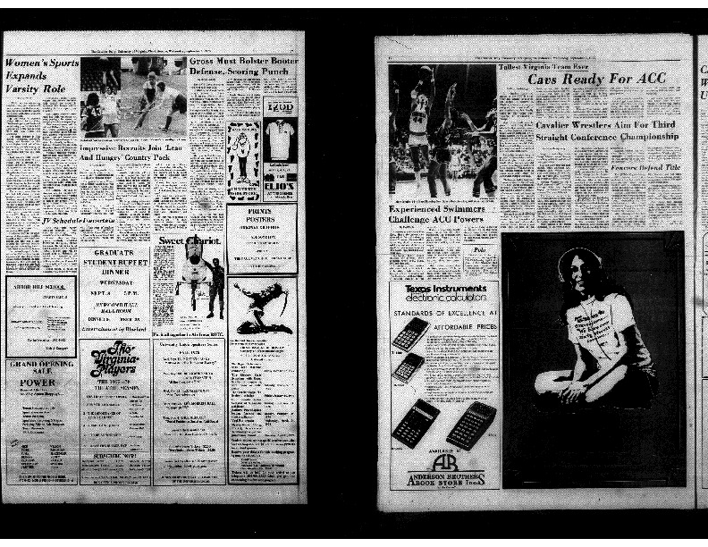 Cavalier Daily Sept 3, 1975 - Women's Sports Expands Varsity Role.pdf