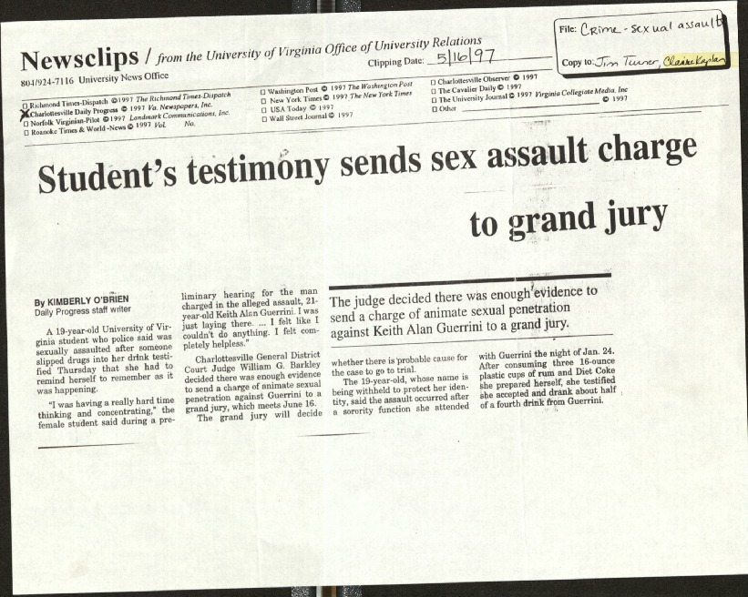 Student's testimony sends sex assault charge to grand jury- O'Brien.pdf