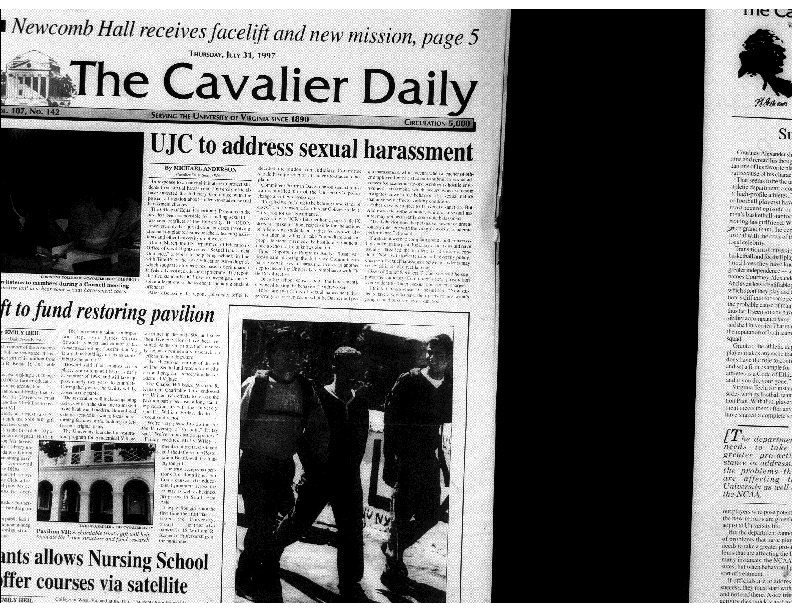1997-07-31 Cavalier Daily UJC to Address Sexual Harassment.pdf