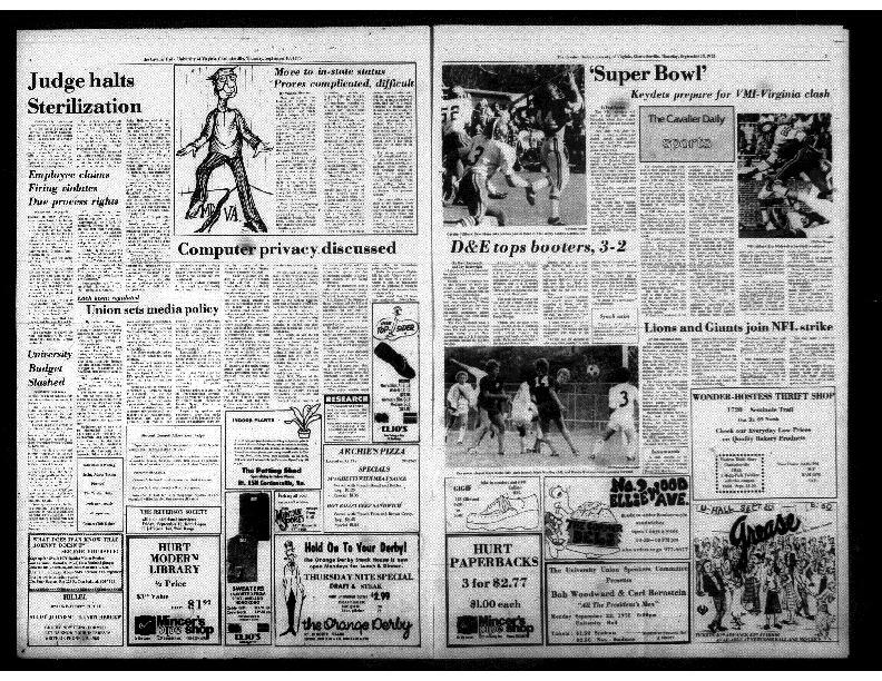 Cavalier Daily Sept 18, 1975 - Judge Halts Sterilization.pdf