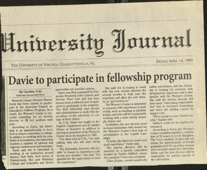 Davie to participate in fellowship program- Cole.pdf