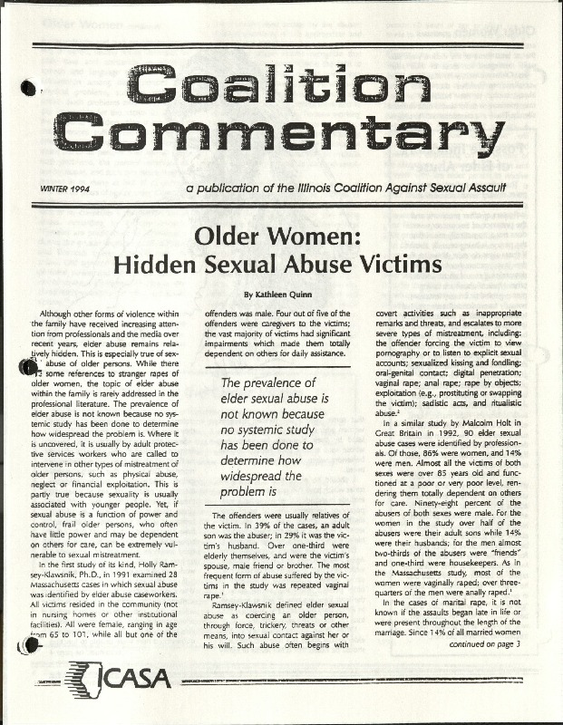 Coalition Commentary- Older Women- Hidden Sexual Abuse victims- Quinn- Winter 1994.pdf