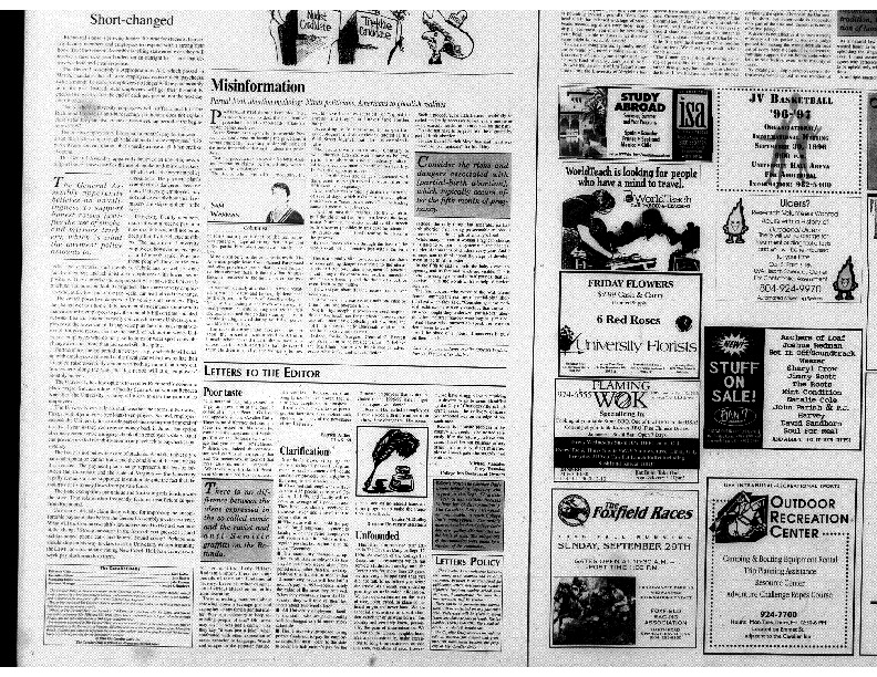 1996-09-26 Cavalier Daily Misinformation.pdf