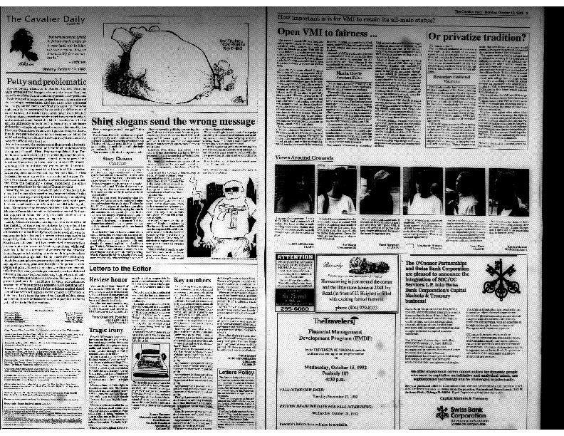 Cavalier Daily Oct 12, 1992 - Open VMI to Fairness...Or Privatize Tradition.pdf