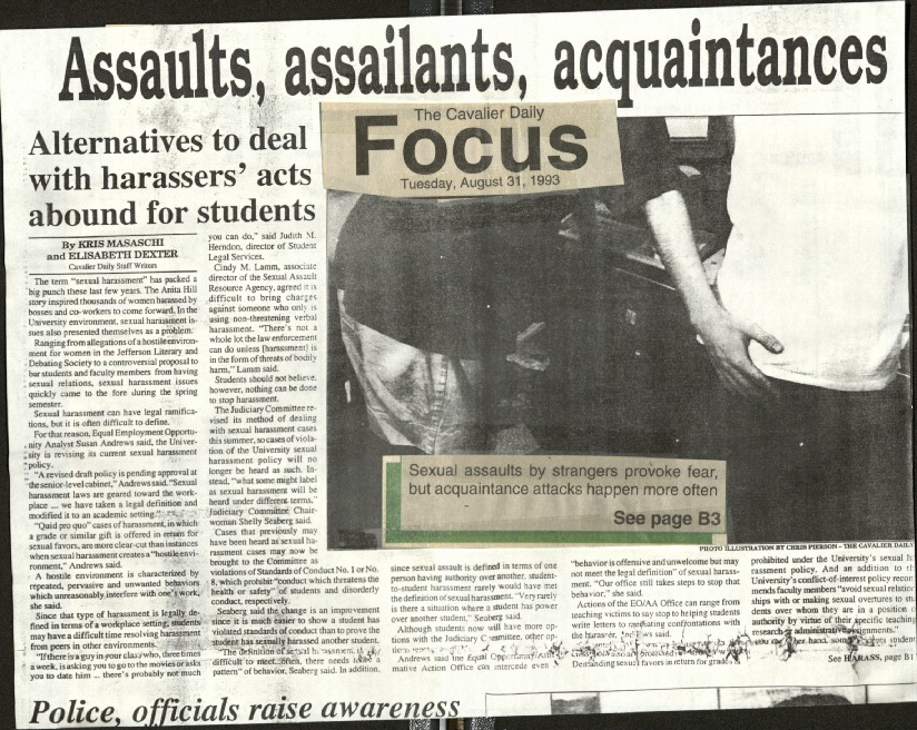 Assaults, assailants, acquaintances-Alternatives to deal with harassers' acts abound for students- Masaschi & Dexter.pdf