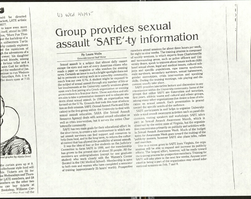 Group provides sexual assault 'SAFE'-ty information-Wells.pdf