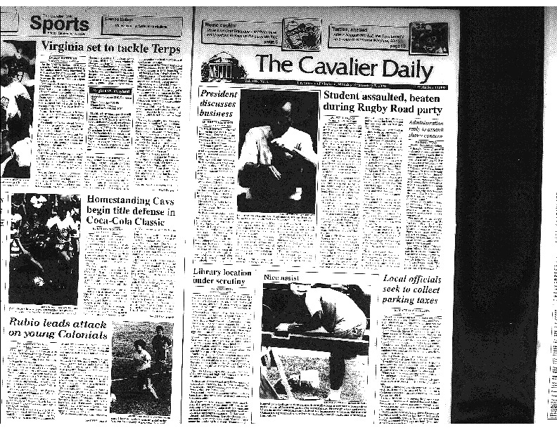 Cav Daily Sept 7, 1992 - Student Assaulted During Rugby Road Party.pdf