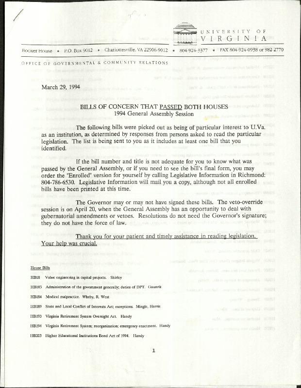 Bills of Concern that Passed Both Houses- 1994- University of Virginia.pdf