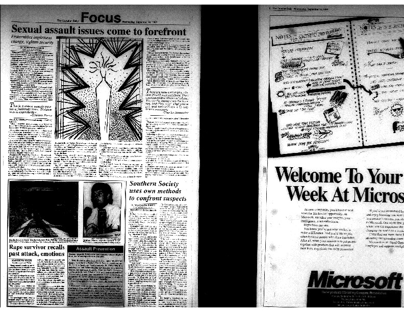 Cavalier Daily Sept 16, 1992 - Sexual Assault Issues Come to Forefront.pdf