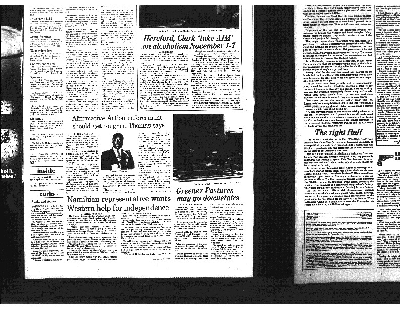 1983-10-21 Cavalier Daily Affirmative Action Enforcement Should Get Tougher, Thomas Says.pdf