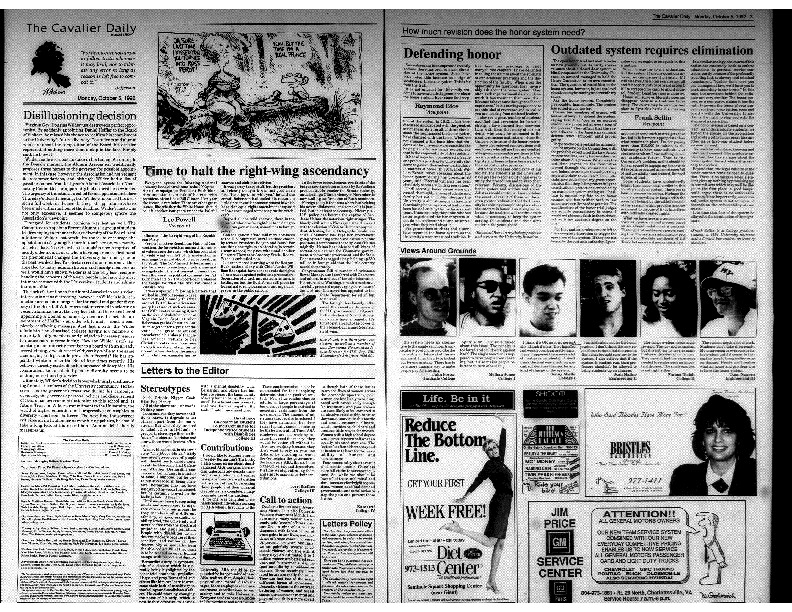 Cavalier Daily Oct 5, 1992 - Disillusioning Decision; Stereotypes..pdf