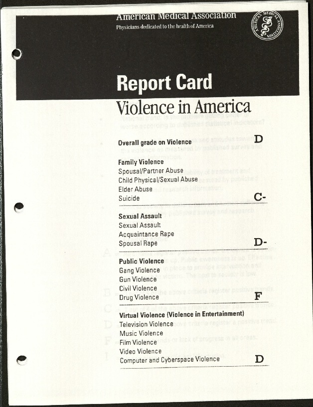 Report Card Violence in America- American Medical Association.pdf