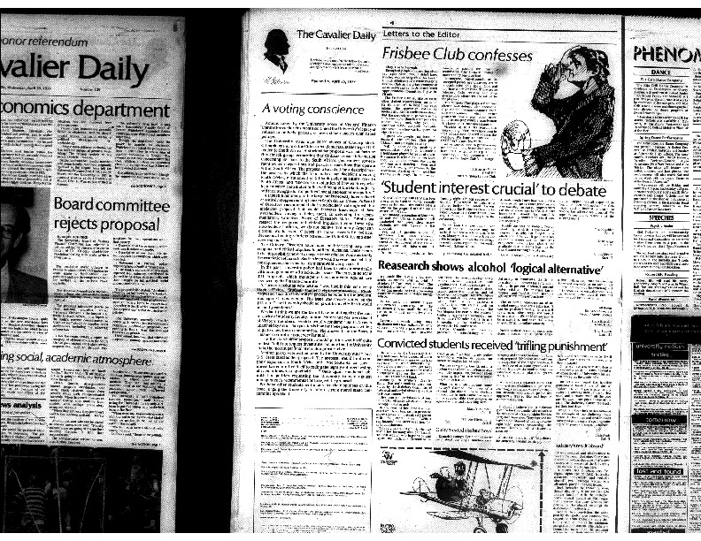 Cavalier Daily Apr 25, 1979 - Convicted Students Receive Trifling Punishment.pdf