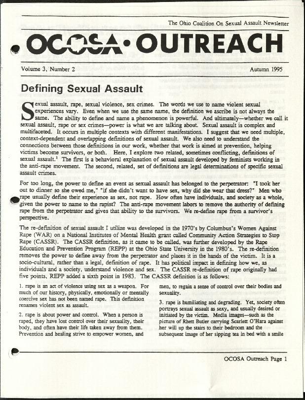 OCOSA Outreach- Autumn 1995- Defining Sexual Assault.pdf