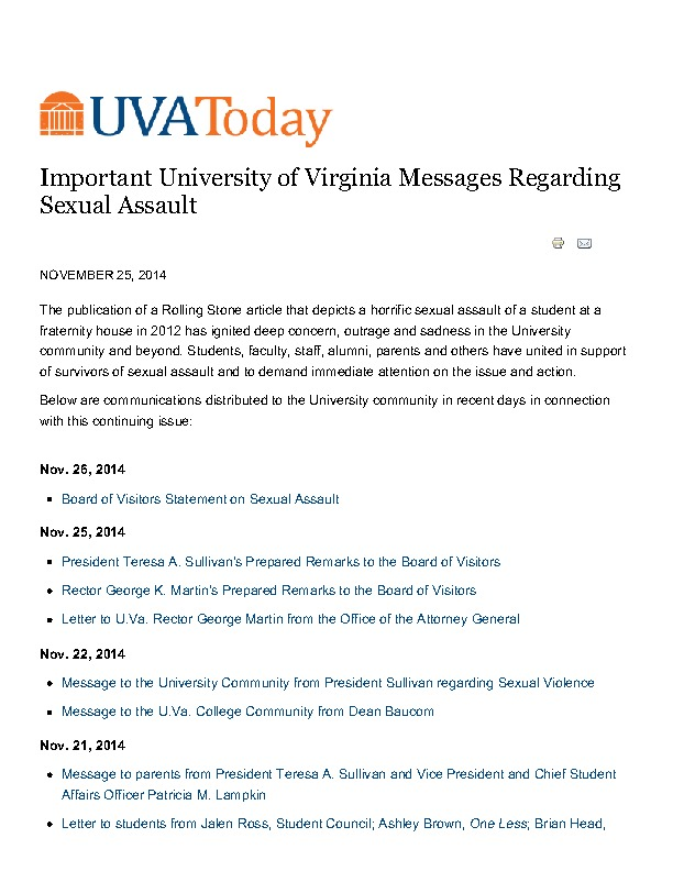 University of Virginia Messages Regarding Sexual Assault | UVA Today.pdf