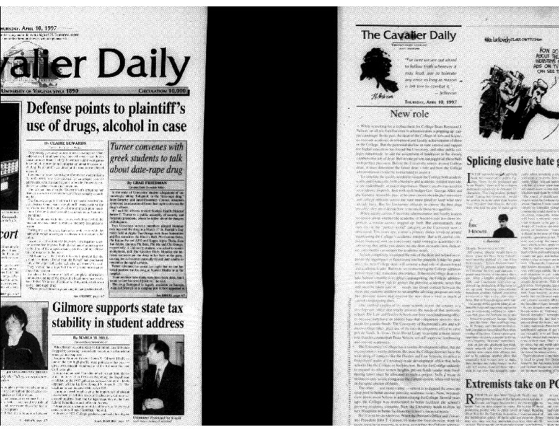 1997-04-10 Cavalier Daily Defense Points to Plaintiff's Use of Drugs, Alcohol in Case.pdf