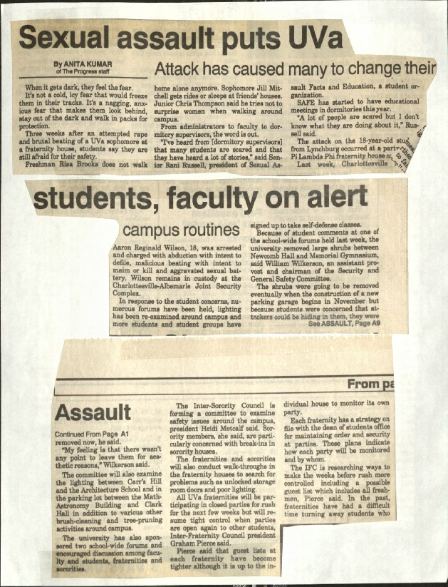 Sexual assault puts UVA students, faculty on alert-Kumar.pdf