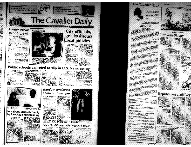Cavalier Daily Sept 18, 1992 - City Officials, Greeks Discuss Local Policies.pdf