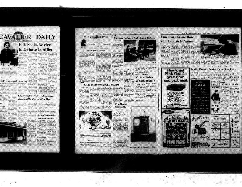Cavalier Daily Oct 3, 1974 - University Crime Rate Ranks Sixth in Nation.pdf