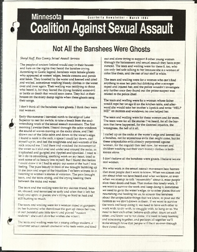 Minnesota Coalition against Sexual Assault-March 1994- Not all the Banshees were Ghosts.pdf