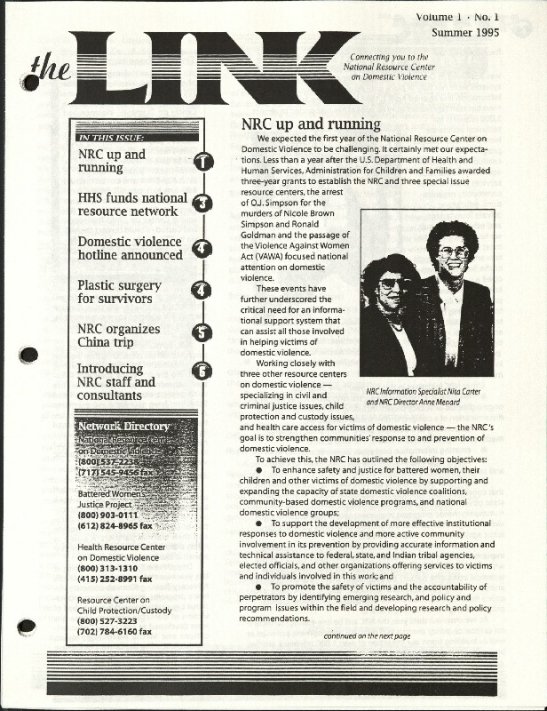 The LINK- Summer 1995- NRC up and running .pdf