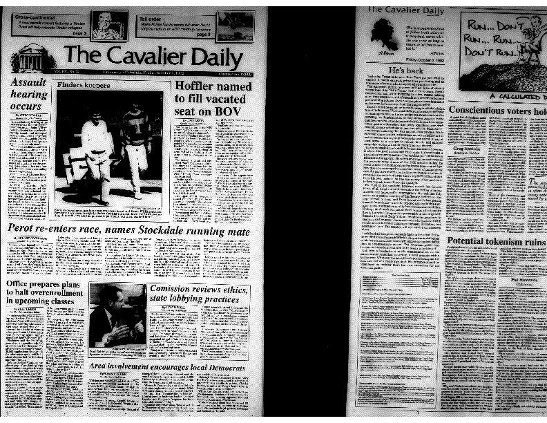 Cavalier Daily Oct 2, 1992 - Assault Hearing Occurs.pdf