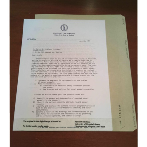 1984 Sexual Assault Task Force Letter - 3 Pages.pdf