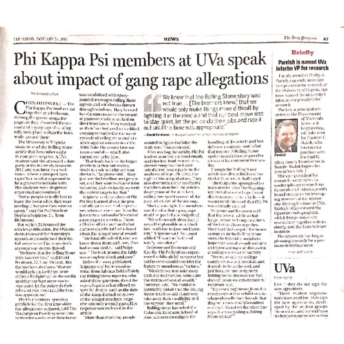 2015-01-15 DP - Phi Kappa Psi members at UVa speak about impact of gang rape allegations.pdf